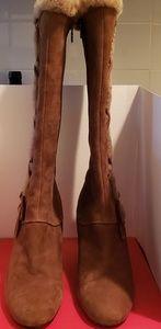 JOAN&DAVID (CIRCA) 3½ inch wooden heel boot.